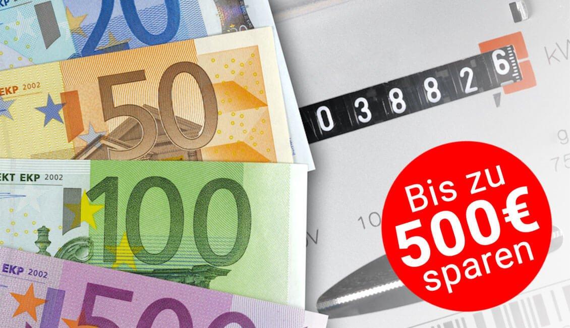 Strompreisvergleich - bis zu 500 Euro sparen