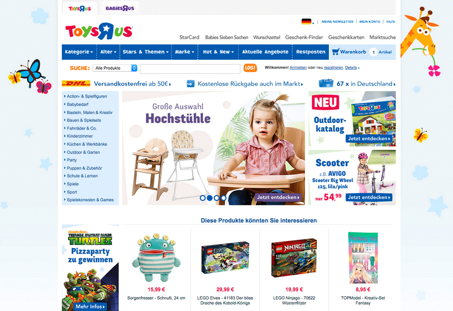 ToysRUs Website