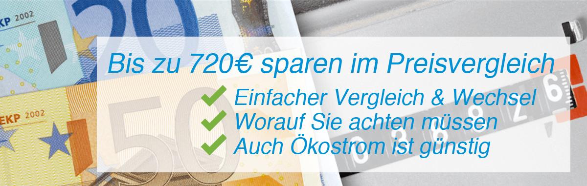 Strompreisvergleich: Bis zu 720€ sparen!