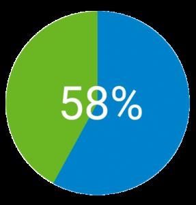 58% der Väter