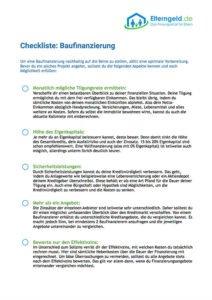 Checkliste zur Baufinanzierung downloaden